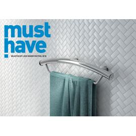 Vital uchwyt stalowy przyścienny z miejscem na ręcznik