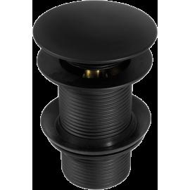 Korek CLICK - CLACK czarny okrągły bez przelewu