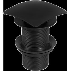 Korek CLICK - CLACK czarny kwadratowy bez przelewu