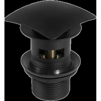 Korek CLICK - CLACK czarny kwadratowy z przelewem