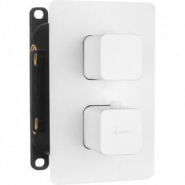 Box Komplet z boxem podtynkowym termostatyczny zaokrąglony Bianco