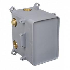 Box BOX podtynkowy termostatyczny z przełącznikiem natrysku - chrom
