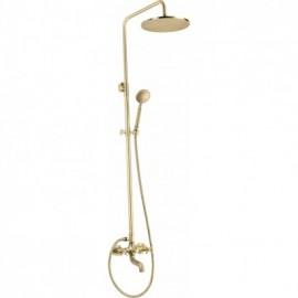 Temisto Deszczownia z baterią wannową - zestaw prysznicowy - mosiądz