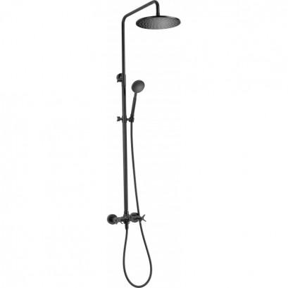 Temisto Deszczownia z baterią natryskową - zestaw prysznicowy czarny