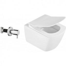 Anemon Zero Miska WC z funkcją bidetu z zaworem podtynkowym - biały