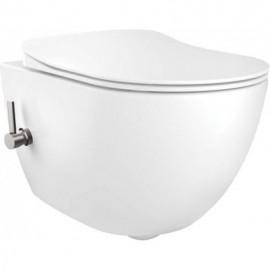 Peonia Zero Miska WC z funkcją bidetu ze zintegrowaną baterią mieszaczową - biały