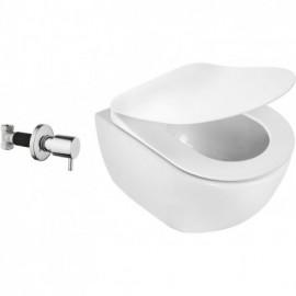 Peonia Zero Miska WC z funkcją bidetu z zaworem podtynkowym - biały