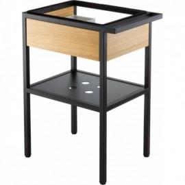 Deante Konsola łazienkowa stojąca z szufladą - czarny