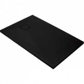 Correo Brodzik prostokątny 120 x 80 cm - czarny