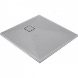Correo Brodzik kwadratowy 90 cm - szary metalik