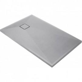 Correo Brodzik prostokątny 100 x 90 cm - szary metalik