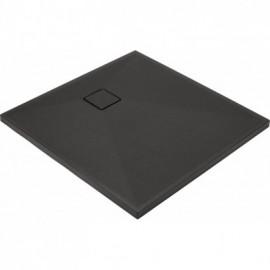 Correo Brodzik kwadratowy 90 cm - antracyt granitowy