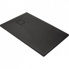 Correo Brodzik prostokątny 100 x 80 cm - antracyt granitowy