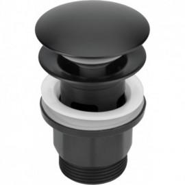 Click-Clack Korek okrągły z przelewem - czarny matowy