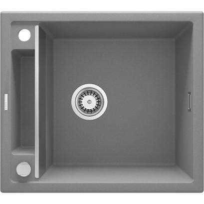 Magnetic Zlewozmywak granitowy magnetyczny 1-komorowy bez ociekacza - szary metalik