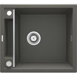 Magnetic Zlewozmywak granitowy magnetyczny 1-komorowy bez ociekacza - antracyt