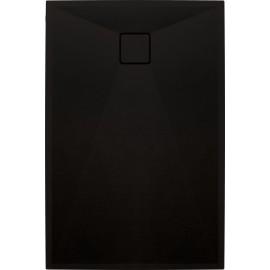 Correo Brodzik prostokątny 100 x 90 cm - czarny