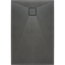 Correo Brodzik prostokątny 120 x 80 cm - antracyt granitowy