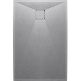 Correo Brodzik prostokątny 120 x 90 cm - szary metalik