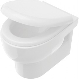 Miska WC wisząca bezkołnierzowa z deską