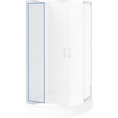 Szyba stała szron do kabiny prysznicowej półokrągłej Funkia 90 cm