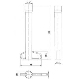 Klucz rurowy do śrub M8