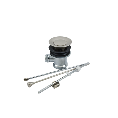 Automatyczny korek umywalkowy, metalowy, INOX